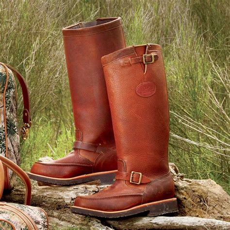Country Boot Mocasin Brown moccasin toe leather snake boots