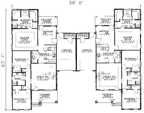 family floor plans sunset farm luxury duplex plan 055d 0060 house plans and more