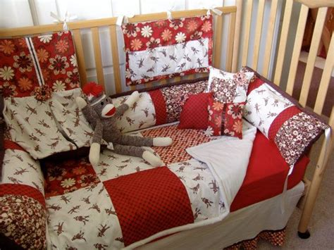 sock monkey bedding 27 best images about baby s room on pinterest baby girls