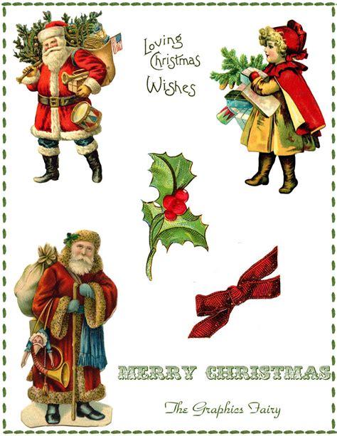 vintage christmas collage printable the graphics fairy