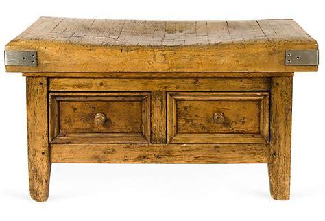 antique butcher block table antique wood butcher block table