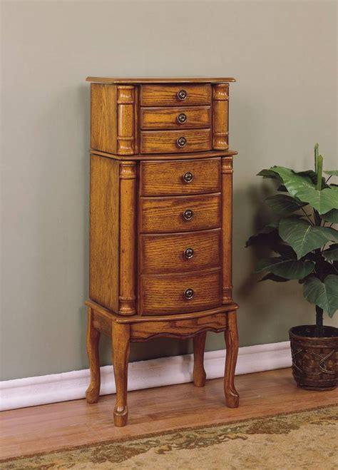 powell woodland oak jewelry armoire pw 604 315 at