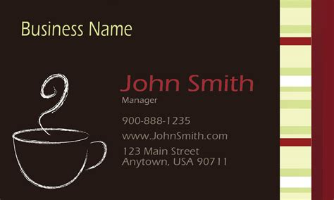italian id card template italian coffee shop restaurant business card design 1001101