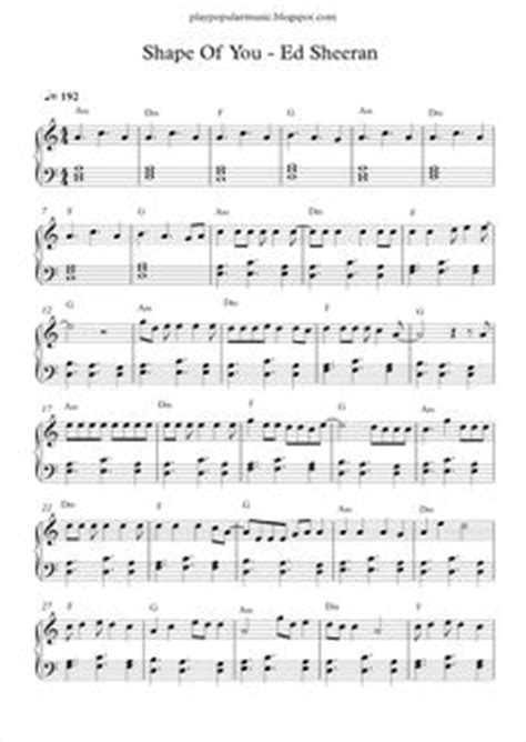 despacito xylophone lyrics ed sheeran shape of you free piano sheet music download