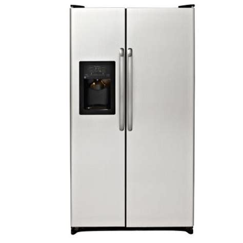 ge 25 3 cu ft side by side refrigerator in cleansteel