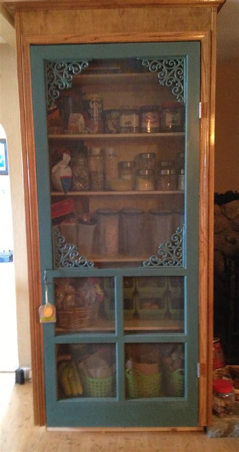 Vintage Screen Door by Screen Door Turned Pantry For The Home