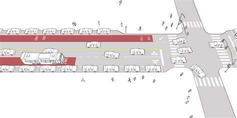 dropped header design guide dropped transit lane national association of city