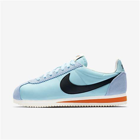 Nike Safety nike classic cortez premium still blue sail safety orange black nike womens lifestyle