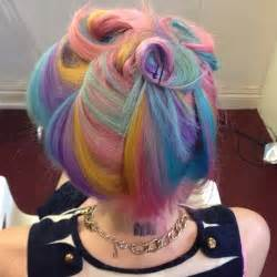 rainbow color hair ideas pastel rainbow swirls hair