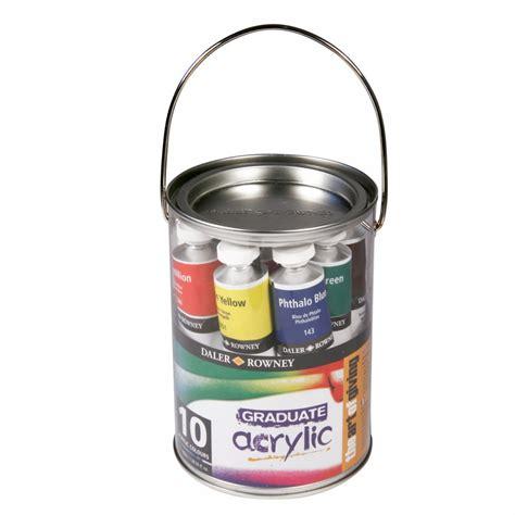 acrylic paint sets graduate acrylic paint pot set daler rowney from