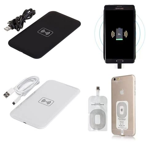 iphone charging pad qi wireless charging charger pad receiver kit for iphone 7 plus 6 6s 5 5s 5c se ebay