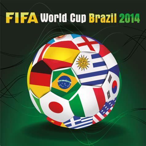 bal 243 n con banderas brasil 2014 vector vector clipart