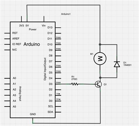 arduino transistor driver circuit arduino uno dc motor kickback diode arduino stack exchange