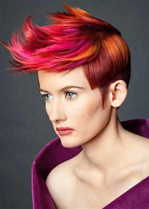 colorful short haircut 35 short hair color ideas short hairstyles 2016 2017