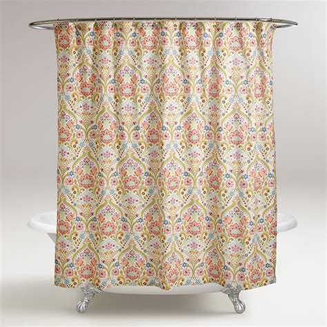 floral shower curtain floral zara shower curtain world market