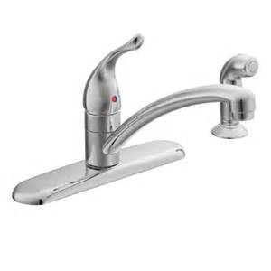 Moen Kitchen Faucet Leaking At Handle Chateau Chrome One Handle Low Arc Kitchen Faucet 7430 Moen