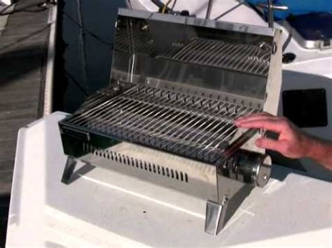 boat n grill stow n go bbq at west marine youtube