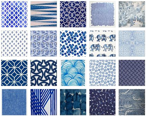 Pattern Library Indigo | pattern libraries interiors by color 2 interior