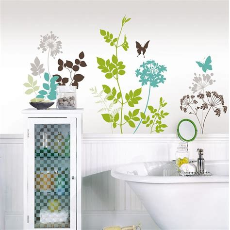 Flower Wall Decals For Bathroom Simple Yet Beautiful Bathroom Decorating Ideas Your
