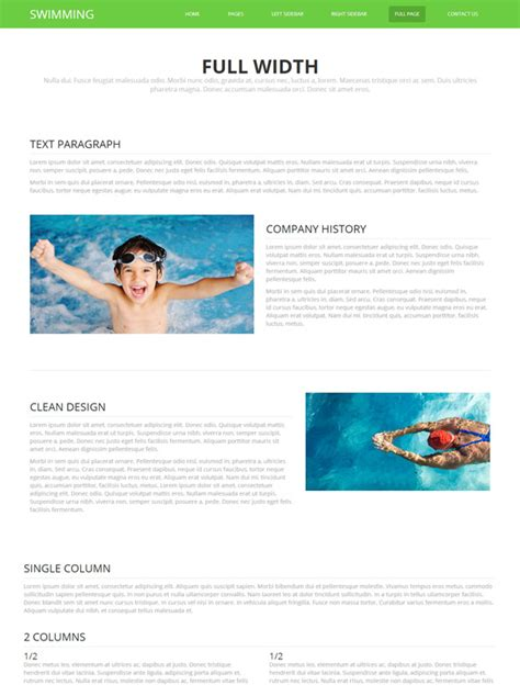 Swimming Pools Website Template Swimming Website Templates Dreamtemplate Swimming Pool Website Templates Free