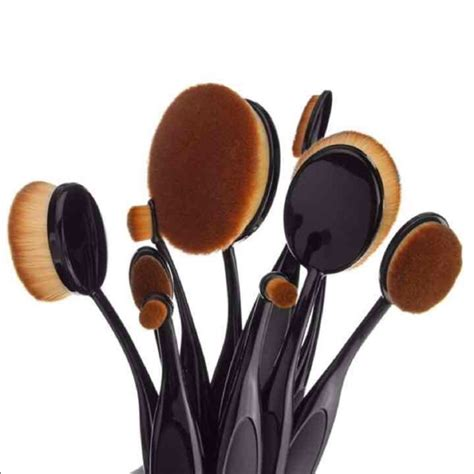 10 Pcs Oval Makeup Brush Set Preorder 36 creations other 10 pcs oval makeup brushes set from goodiesandmadness s