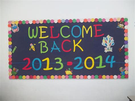 School Board Decoration Pictures by 2013 Welcome Back To School Bulletin Board Idea