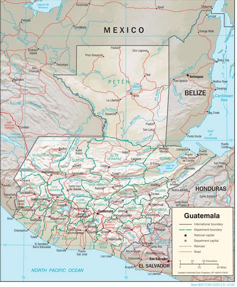 where is guatemala on the map guatemala maps perry casta 241 eda map collection ut