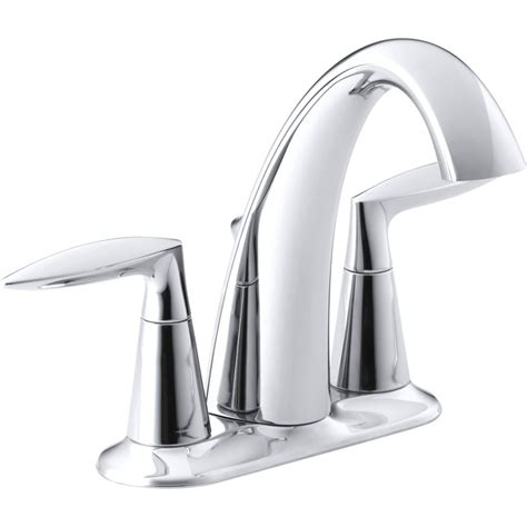 kohler bathroom faucet kohler k 45100 4 cp alteo polished chrome two handle
