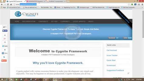 tutorial php framework cygnite framework tutorial installation and configuration