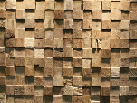 Mosaic Rug Tile Reclaimed Wood 3d Wall Tile Square By Teakyourwall