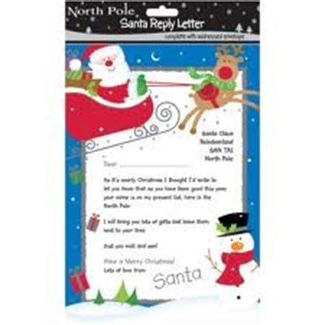 Christmas Santa Reply Letter With Envelope Amazon Co Uk Toys Games Free Santa Reply Letter Template