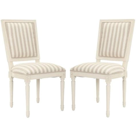 Striped Dining Chair by Stripe Grey Side Chairs Set Of 2 Overstock