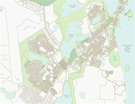 printable map of yellowknife cityexplorer interactive maps city of yellowknife