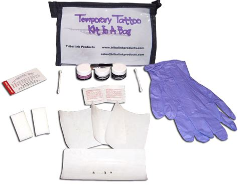tattoo kit bag temporary tattoo kit in a bag gift set