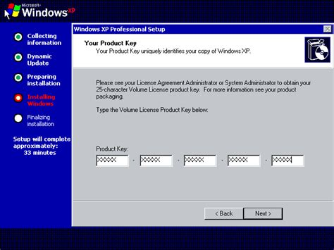 cd key for windows xp