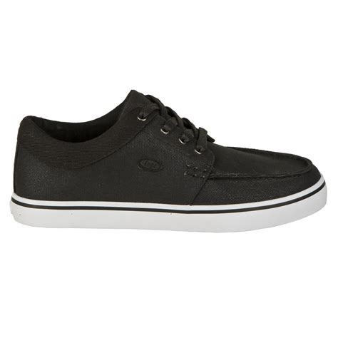 lugz burke mens shoe black white stylish footwear
