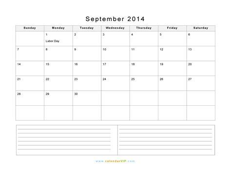 printable calendar 2014 with notes september calendar 2014 printable notes 25902 bursary
