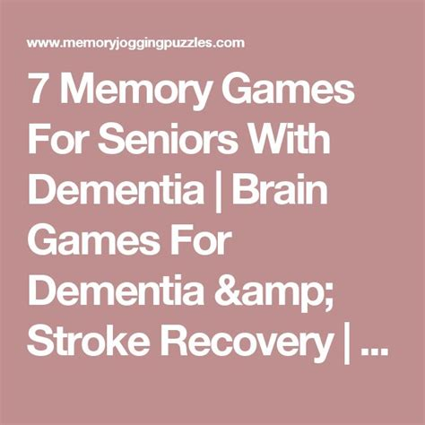 free printable word games for seniors with dementia 7 memory games for seniors with dementia brain games for