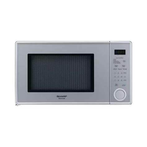 sharp 1 1 cu ft carousel countertop microwave in pearl