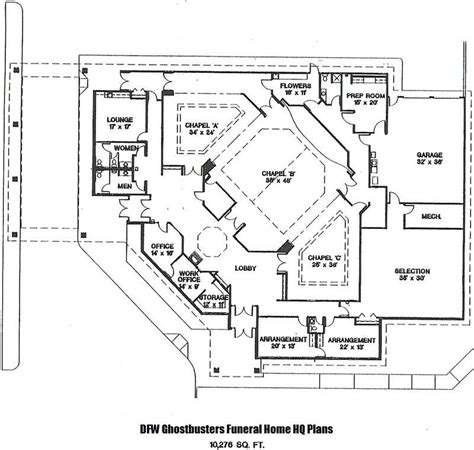 funeral home floor plans best of home design blueprints