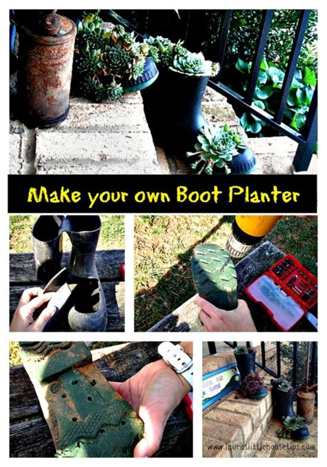 Make Your Own Planters by Make Your Own Boot Planter