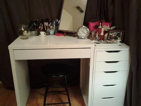 ikea alex drawers dupe vanity love my new vanity ikea s micke and 5 drawer alex