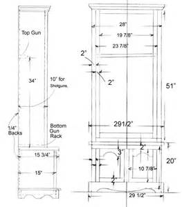 woodwork gun cabinet making plans pdf plans
