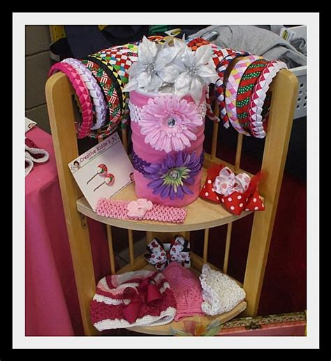 craft show display hip girl boutique llc free hair bow pin by lisa hayes on display ideas pinterest