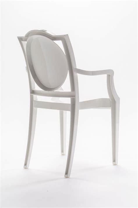 sedie ghost sedia ghost policarbonato con braccioli la16 bianco 2