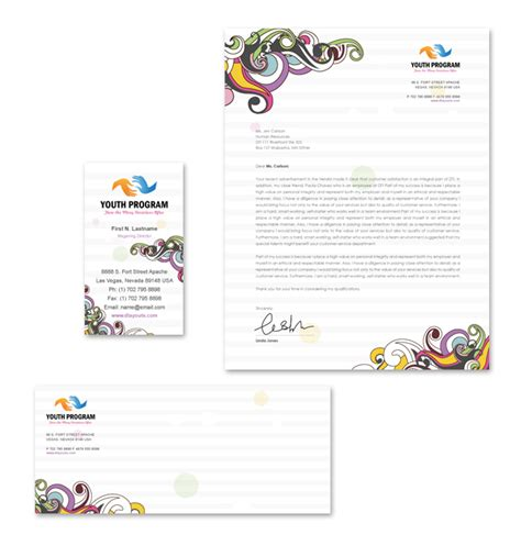 Youth Program Template youth education program stationery kits template
