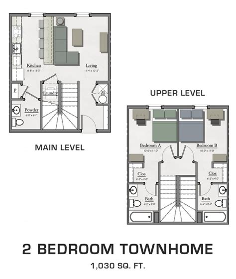 2 bedroom townhome 2 bedroom townhome hannah lofts and townhomes