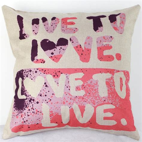wholesale bed pillows wholesale live to love letters sofa bed pillow case in colormix trendsgal com
