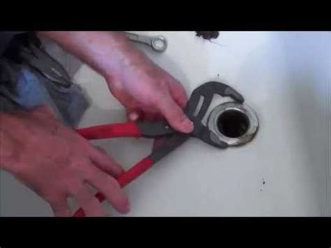 how to change out bathtub drain how to change a tub drain spud youtube