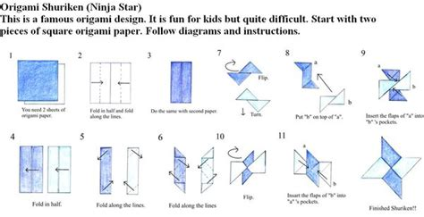 How To Make A Paper Shuriken Easy - origami just made for you